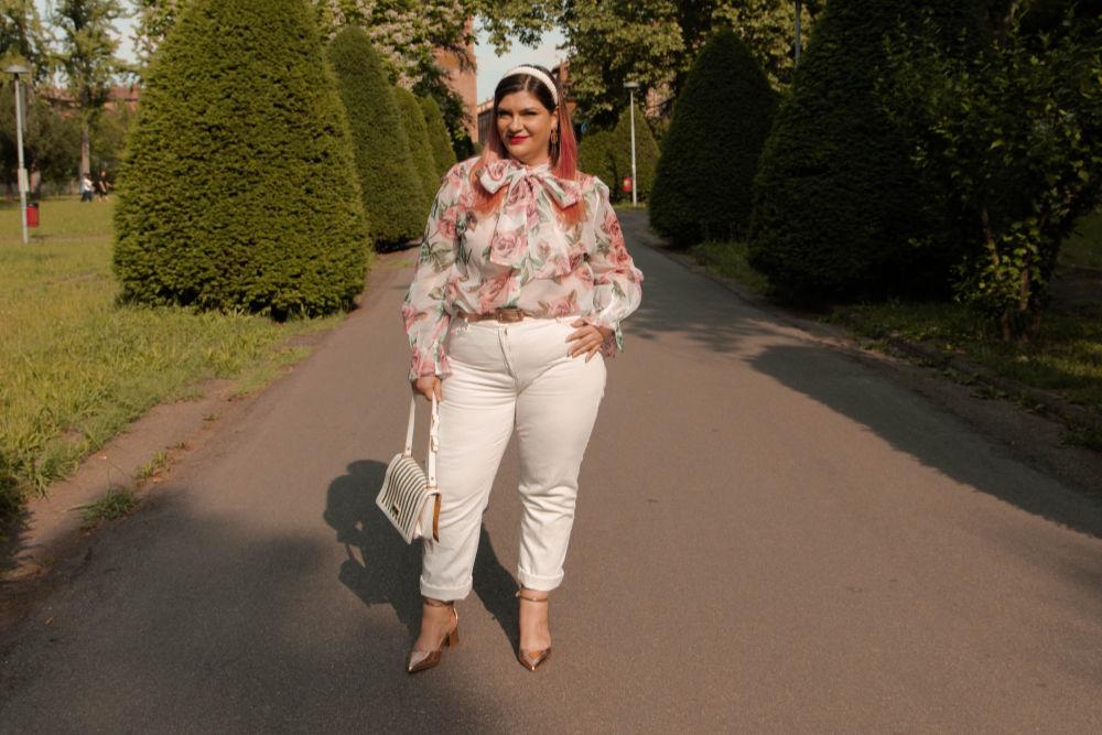 outfit curvy plus size come indossare il bianco (4)