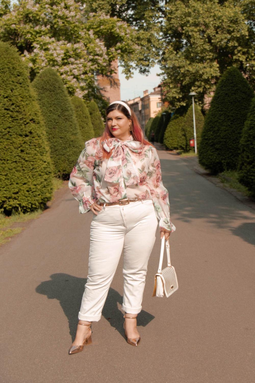 outfit curvy plus size come indossare il bianco (2)