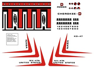 Estes Estes Astron Cherokee-D (K-47) Early Decal Recreation | by Model Rockets Rock!