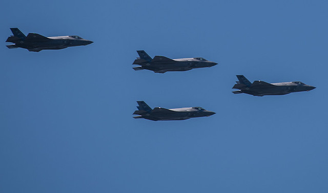 F35 flyover saluting healthcare workers