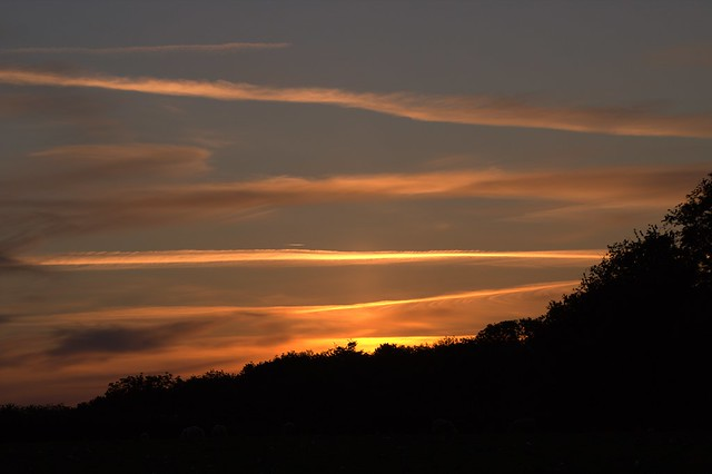 'Vapour Trail' Sunrise at home in Betws yn Rhos North Wales - 2.6.2020