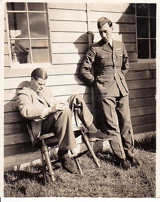 Tony with P/O Powell. Taken at Scampton in 1939