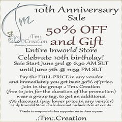 .:Tm:.Creation Sale and Gift 10th Anniversary