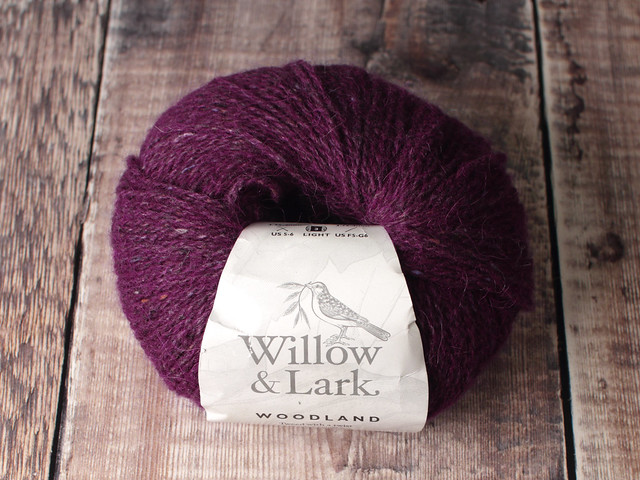 Destash yarn: Willow & Lark Woodland alpaca wool tweed DK yarn 50g – Spiced Plum