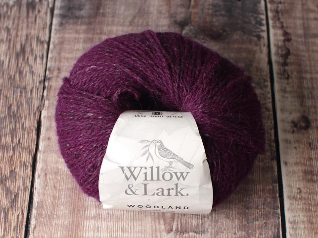 Destash yarn: Willow & Lark Woodland alpaca wool tweed DK yarn 50g – Spiced Plum