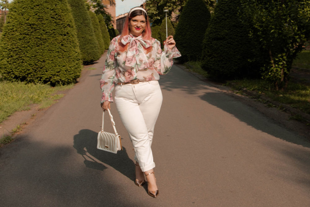 outfit curvy plus size come indossare il bianco (3)