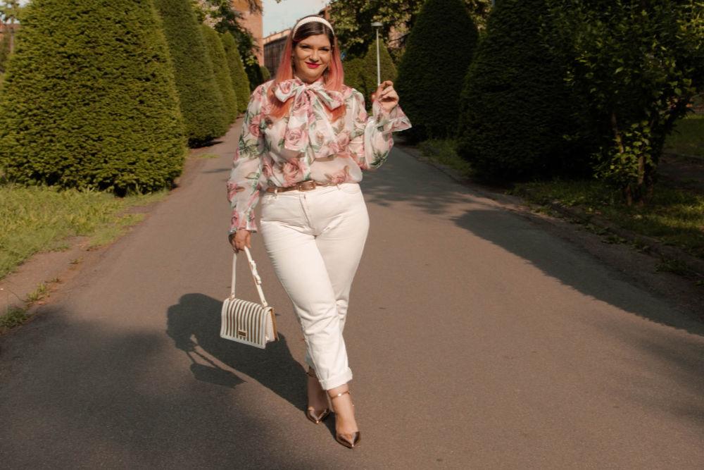 outfit curvy plus size come indossare il bianco (3)