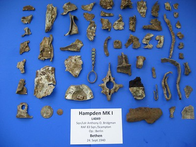 Wreckage Pieces from Hampden. L4049