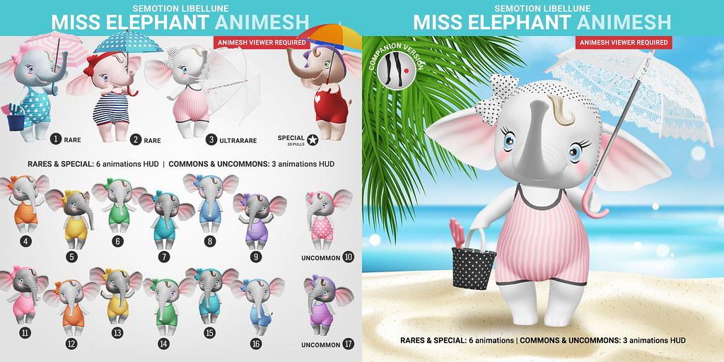 SEmotion Libellune Miss Elephant Animesh