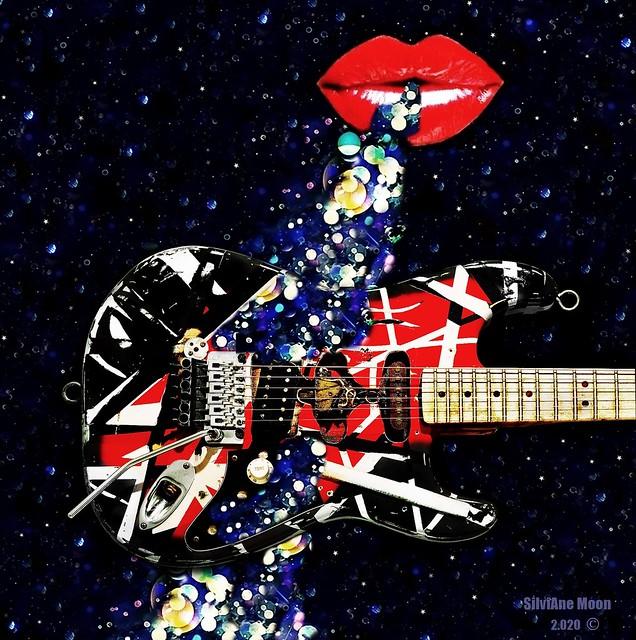 Art: Shiny guitar-Guitarra brilhante Dia 01-junho-2020
