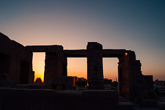 Sunset at Kom Ombo temple