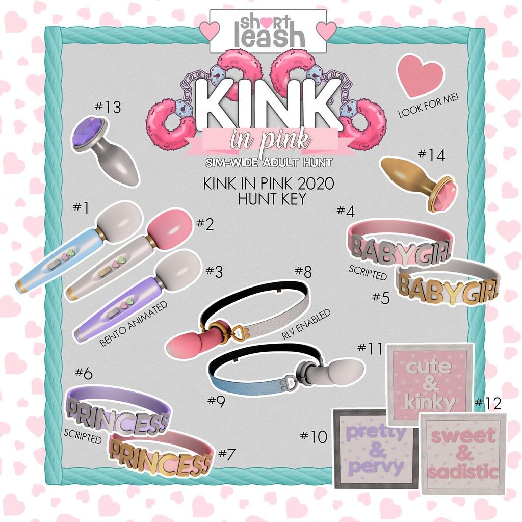 .:Short Leash:. Kink in Pink 2020 Hunt Key