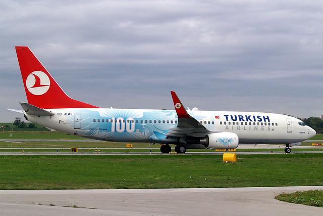 TC-JGU   Boeing 737-8F2 [34418] (THY Turkish Airlines) Vienna-Schwechat~OE 13/09/2007