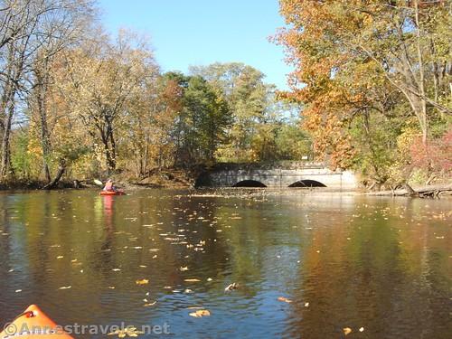 Old train bridge across Black Creek, Rochester, New York