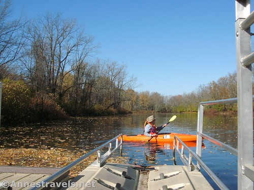 On the kayak dock at the Black Creek Boat Launch, Rochester, New York