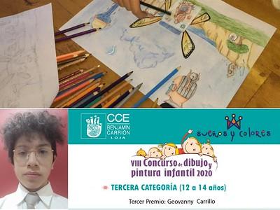 GEOVANNY, TALENTO Y CREATIVIDAD EN CONCURSO DE PINTURA