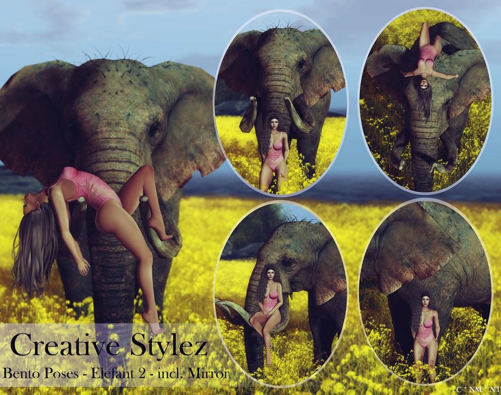 Creative Stylez – Bento Poses – Elefant 2 –