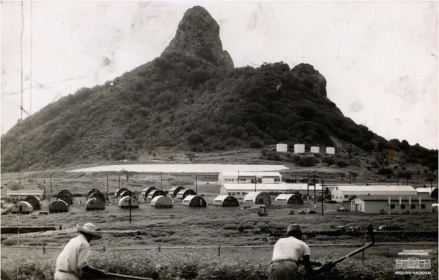 Base americana no antigo Território Federal de Fernando de Noronha, em 1959