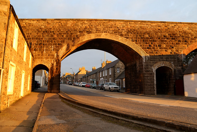 The old railway viaduct at Cullen