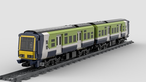 Lego Irish Rail 29000 DMU, old livery