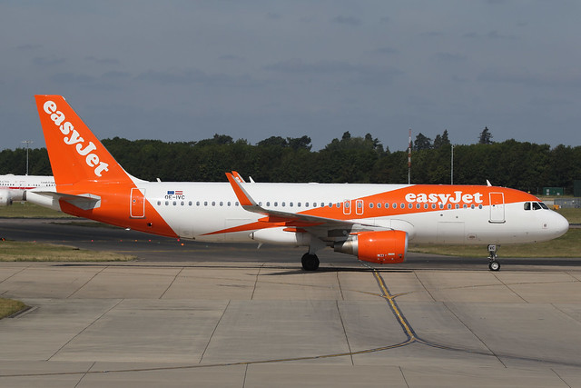 OE-IVC Airbus A320-214 Easyjet Europe Stansted 23rd August 2019