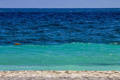Various shades of blue, Valentin Imperial Riviera Maya, Mexico