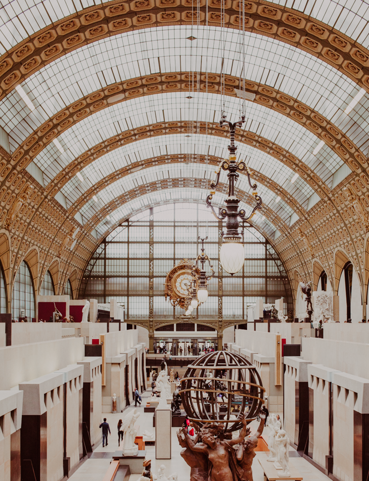 inside the Musee D'orsay