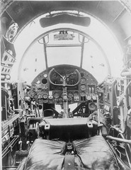 Pilot's cockpit of the Handley Page Hampden.