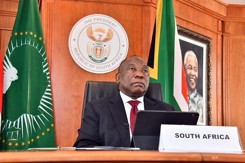 President Cyril Ramaphosa participates in OACPS Summit on Coronavirus COVID-19 | by GovernmentZA