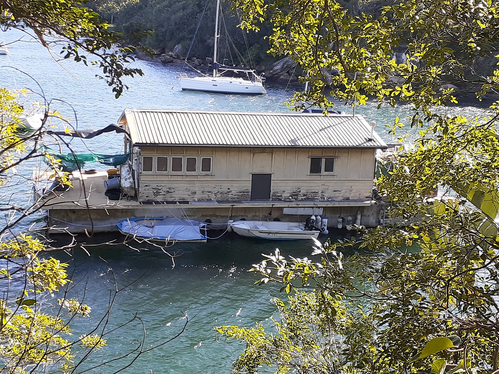 Houseboat at Clontarf, NSW.