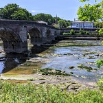 Old bridge over the River Ribble at Preston