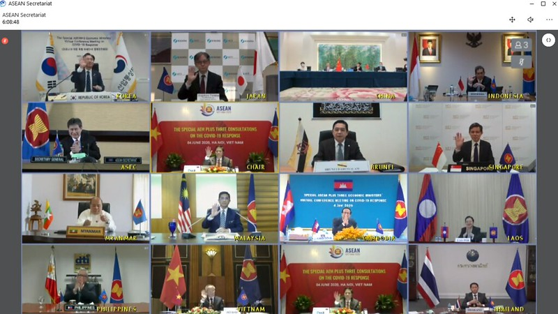 (JUNE 2020) Special ASEAN Plus Three Economic Ministers' (AEM +3) Virtual Conference Meeting on Covid-19 Response