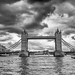 tower bridge view B&W