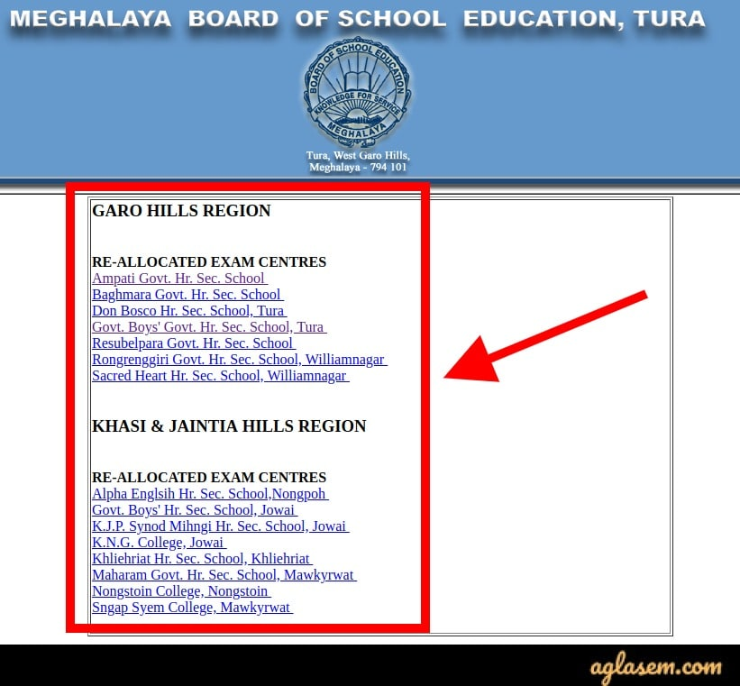 Meghalaya Board HSSLC (12th) Date Sheet 2020 (Revised) - New Admit Card Available