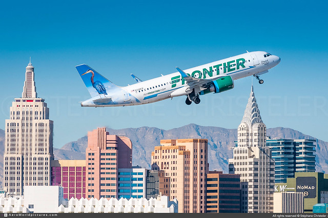 LAS.2020 | #Frontier.Airlines #F9 #Airbus #A320N #Neo #Stretch.the.Great.Blue.Heron #awp