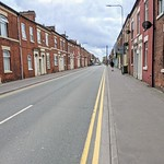 Empty Plungington Road at Preston