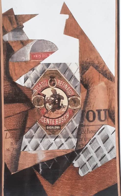 Àngel Borrás ( Collage ampolla anís )