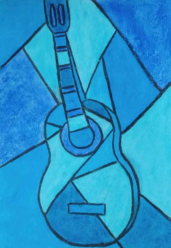 Andrea Moreno ( Arte en guitarra azul )
