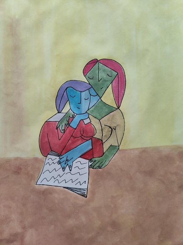 María Micharet ( Dues dones llegint )