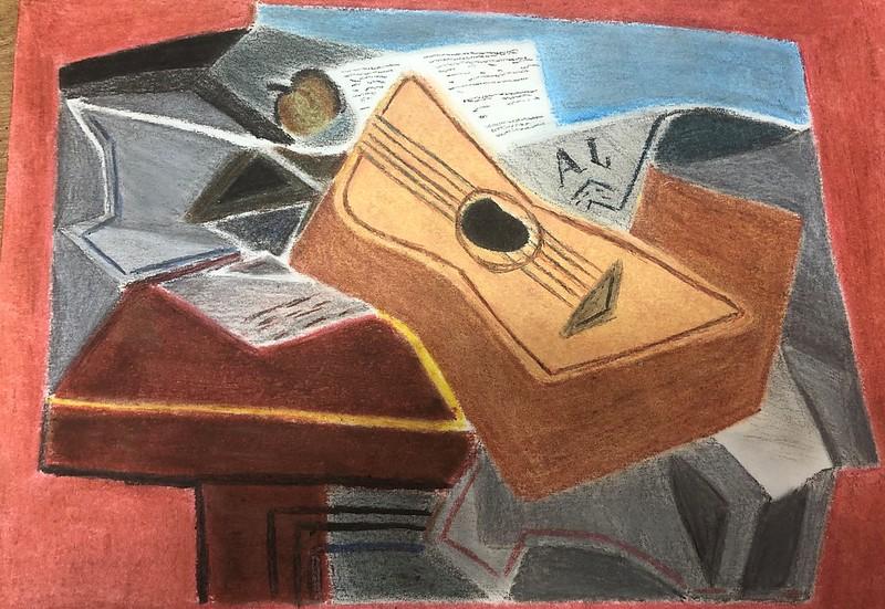 Judith Alvarez ( guitarra y periódico )