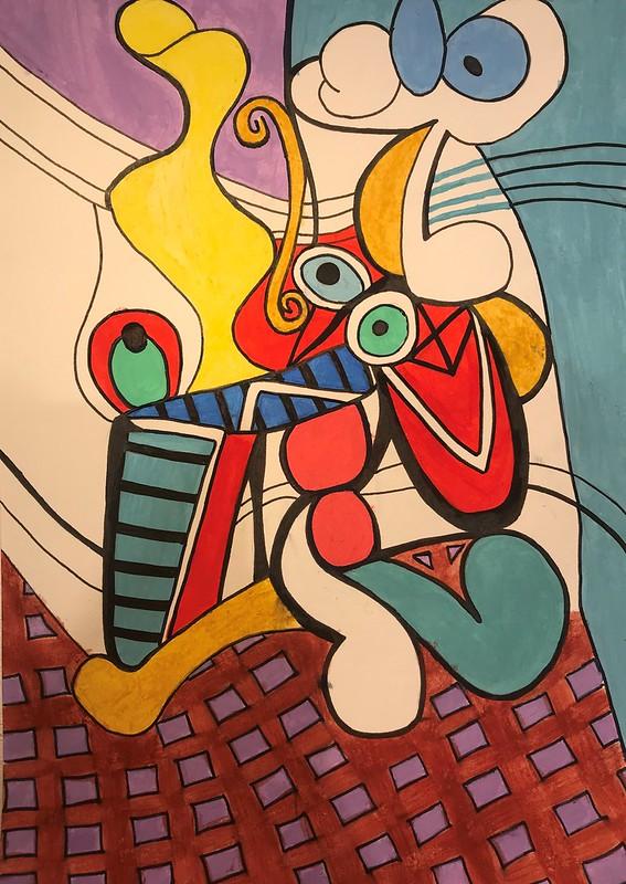 Daniela Valencia ( desnudo y naturaleza muerta, Picasso )