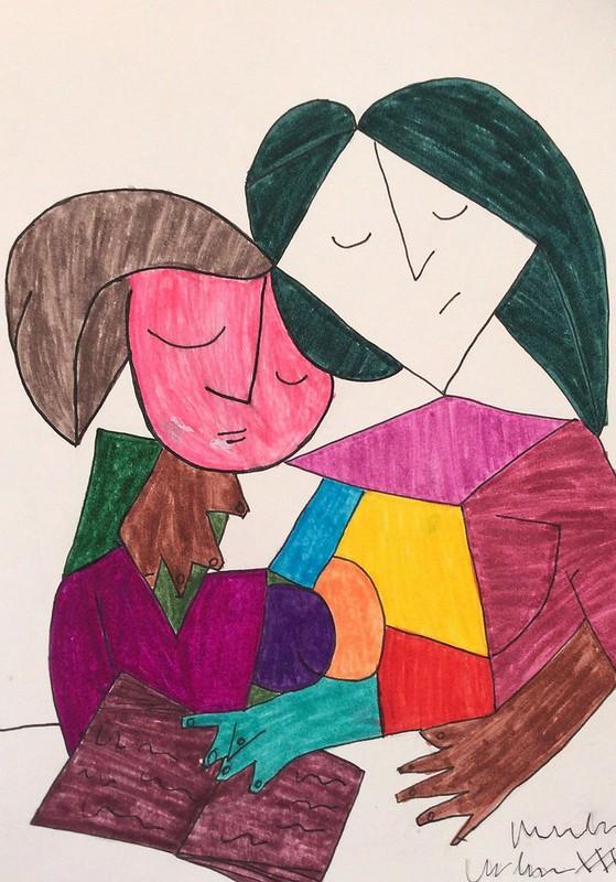 Yaiza Gómez ( dos mujeres leyendo )
