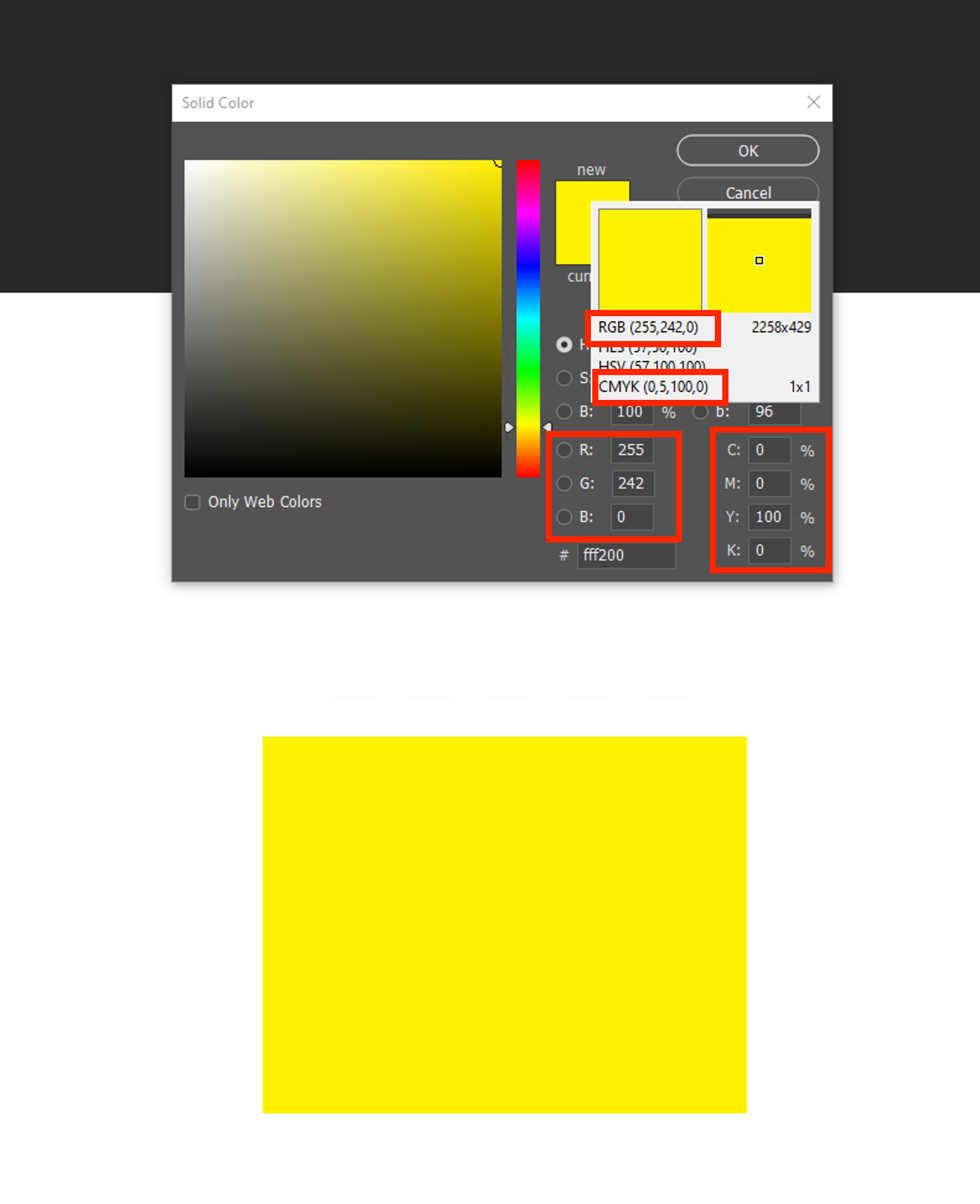 CMYK document