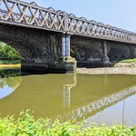 Main line railway bridge over the River Ribble at Preston