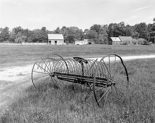 Old Horse-Drawn Hay Rake, Pownal, Maine