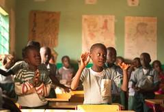 School kids in Kerewan, Western Division, Gambia