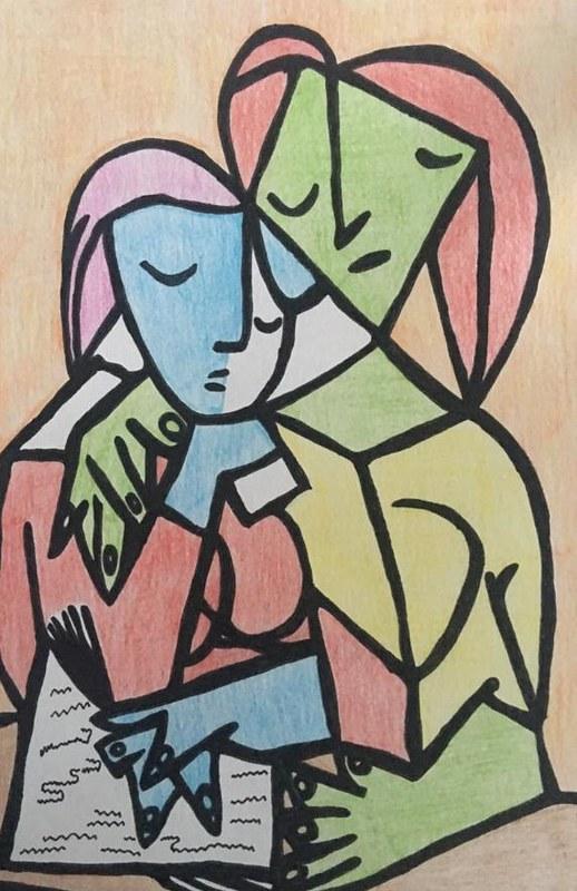 Jose del Rio ( dos mujeres leyendo )