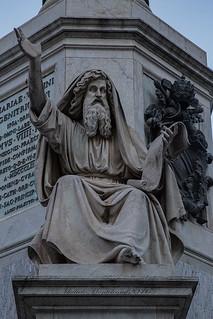 Colonna Dell'Immacolata a Piazza Mignanelli - Rome Immaculate Conception column in Piazza Mignanelli -  RomaColonne de l'Immaculée Conception  sur la Piazza Mignanelli: Profeta Ezechiele (Carlo Cheli)