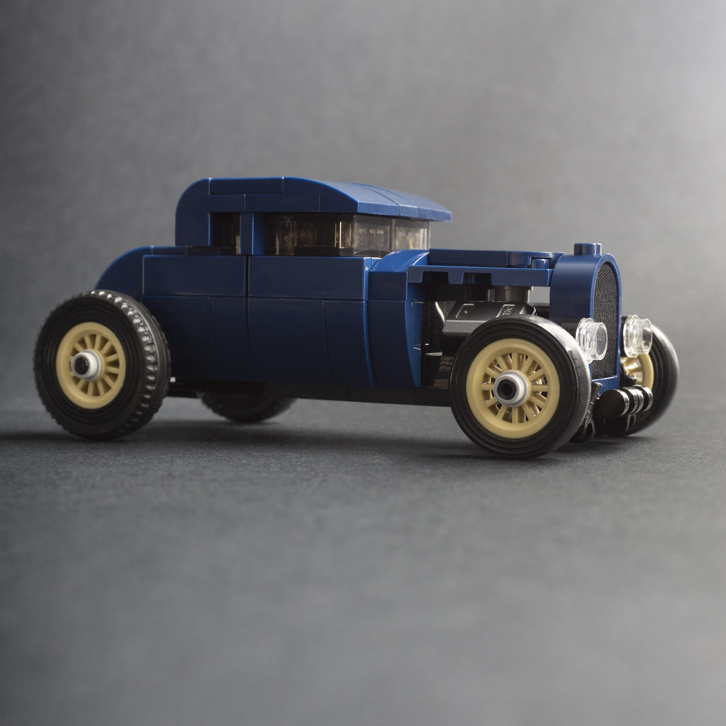 Dark Blue Hot Rod