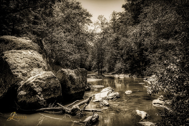 Red River Gorge in BW